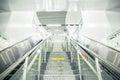 Subway stairs and escalator Royalty Free Stock Photo