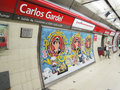Subway station in buenos aires carlos gardel argentina the opened the first of its kind latin america and around the Stock Photo