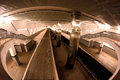 Subway station an interior of a in moscow russia shot with fish eye lens Stock Image