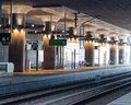 Subway station modern in hyllie sweden Royalty Free Stock Images