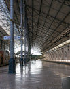 Subway station roof structure in lisbon Royalty Free Stock Images