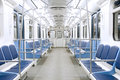 Subway train interior Royalty Free Stock Photo