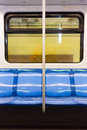 Subway train seats Royalty Free Stock Photo