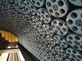 Subway (tube, underground) facade with movie motives  in Los Angeles, Hollywood station Royalty Free Stock Photo