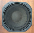 Subwoofer Loud speaker system closeup Royalty Free Stock Photo