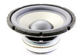 Subwoofer speakers on a white background Royalty Free Stock Images