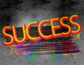 Success an abstract colorful background with the word Royalty Free Stock Images