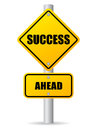 Success ahead road sign Royalty Free Stock Photo