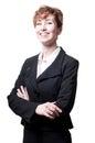 Success arms folded short hair business woman Stock Photos