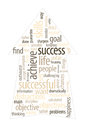 Success arrow up word cloud imagine yourself being successful and find the purpose or goal of your business life Royalty Free Stock Images