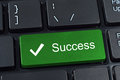 Success big green button keypad. Royalty Free Stock Photography