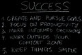 Success blackboard