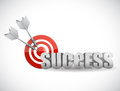 Success bulls eye target illustration Royalty Free Stock Photo