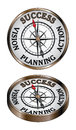 Success compass illustration representing the concept of as being north on a directional Royalty Free Stock Photography