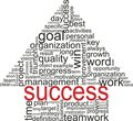 Success concept. Arrow with different associations Royalty Free Stock Image