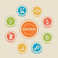 Success Concept with icons