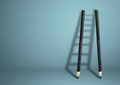 Success creative concept, pencil Ladder with copy space Royalty Free Stock Photo