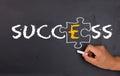 Success factor concept e on chalkboard Stock Photos