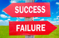 Success or Failure Royalty Free Stock Photo