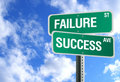 Success and Failure Sign with Clouds Royalty Free Stock Photos