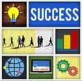 Success goal achievement accomplishment successful concept Royalty Free Stock Photo