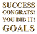 Success goals congrats gold text you did it business Royalty Free Stock Photography