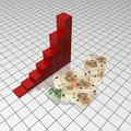 Success graph with money Royalty Free Stock Photos