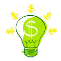 Success icon - vector bulb Royalty Free Stock Images