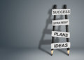 Success idea creative concept, pencil Ladder with copy space Royalty Free Stock Photo