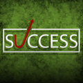 Success illustration of on a green background Stock Photos