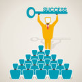 Success key concept businessmen with Royalty Free Stock Images