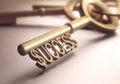 Success key the right to depth of field in the word focusing on just the dollar sign Royalty Free Stock Photography