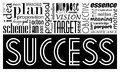 Success keywords concept and synonyms. Idea motivational banner Royalty Free Stock Photo