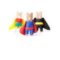 Success leadership conceptual image. Superheroes Royalty Free Stock Photo