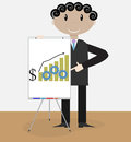 Success man presentation growth money Royalty Free Stock Photo
