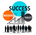 Success Mission Tarket Buisness Growth Planning Concept Royalty Free Stock Photo
