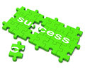 Success Puzzle Shows Attainment Of Wealth Royalty Free Stock Photo