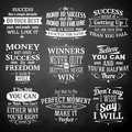 Success quotes chalkboard set Royalty Free Stock Photo