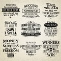 Success quotes set Royalty Free Stock Photo