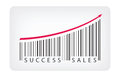Success sales concept vector illustration of barcode label with text isolated on white background Royalty Free Stock Photography