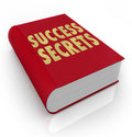 Success secrets book instructions manual advice the words on a red to serve as an instruction on how to be successful in life or Stock Image
