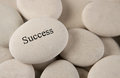 Success stone with engraved on rock background Royalty Free Stock Images