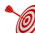 Success target direct hit in the center of the d image white background Royalty Free Stock Images