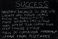 Success teaching how to become successful chalk on blackboard Royalty Free Stock Photos