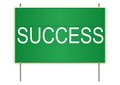 Success traffic sign green on a white background raster Royalty Free Stock Images
