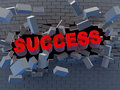 Success and wall Royalty Free Stock Photos