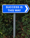 Success is this way sign Royalty Free Stock Photo