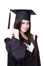 Success Woman graduate student Royalty Free Stock Photos