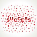 Success word with in alphabets Stock Images