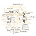 Success word cloud imagine yourself being successful and find the purpose or goal of your business life Stock Photo